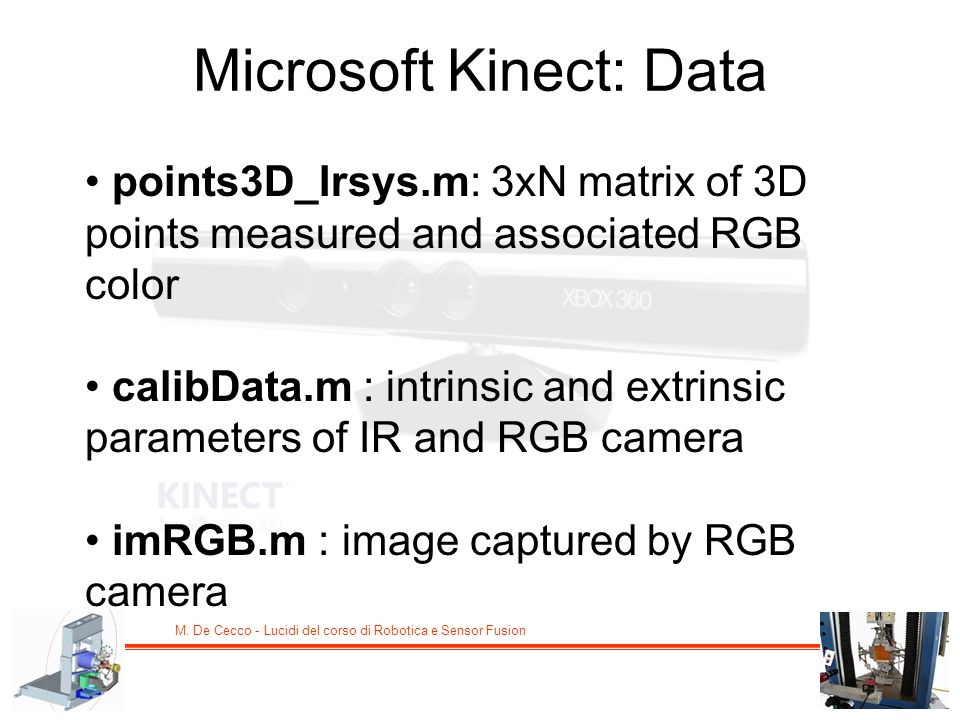 Microsoft Kinect: Data