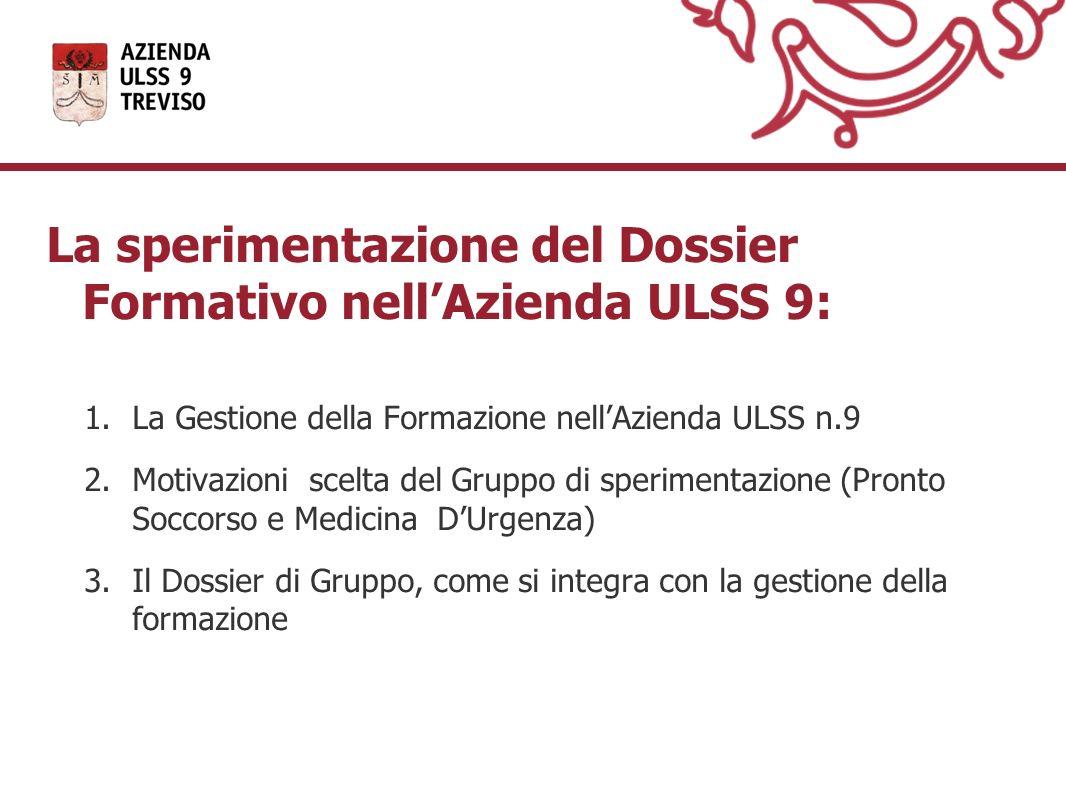 La sperimentazione del Dossier Formativo nell'Azienda ULSS 9: