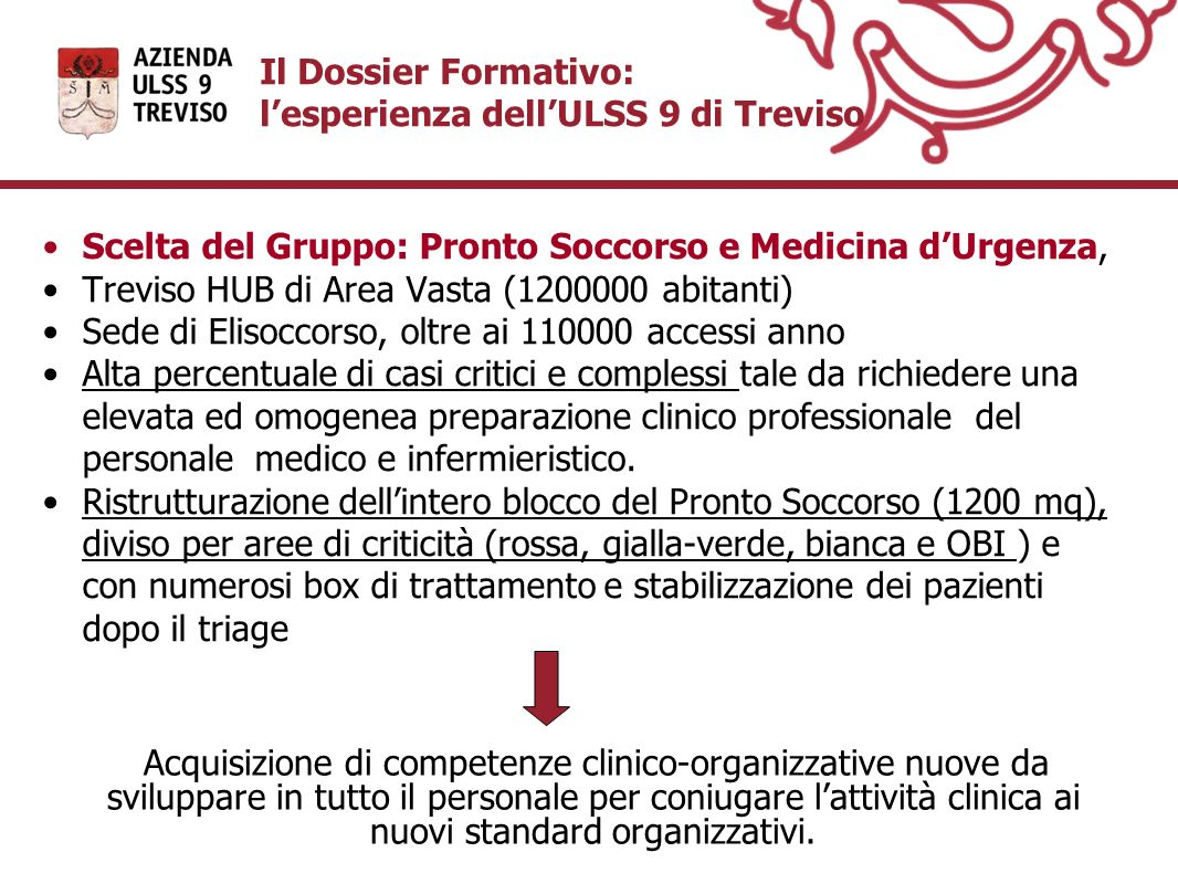 Il Dossier Formativo: l'esperienza dell'ULSS 9 di Treviso