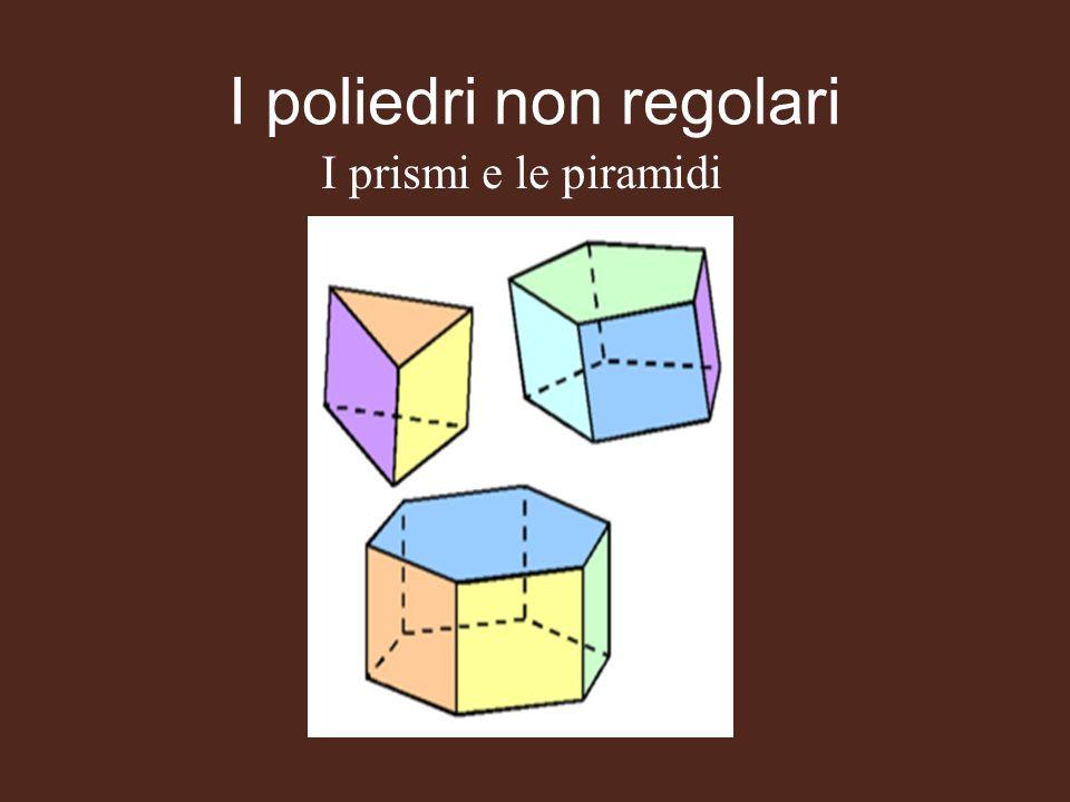 I poliedri non regolari