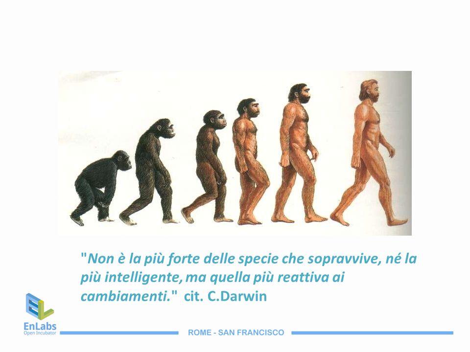 Non è la più forte delle specie che sopravvive, né la più intelligente, ma quella più reattiva ai cambiamenti. cit.