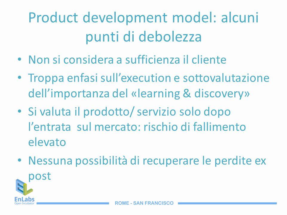 Product development model: alcuni punti di debolezza