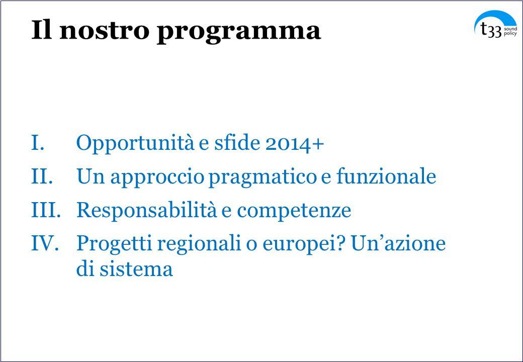 Il nostro programma Opportunità e sfide 2014+