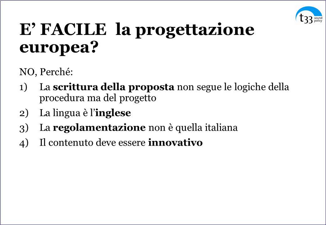 E' FACILE la progettazione europea