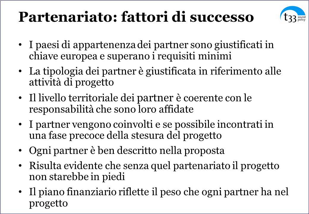 Partenariato: fattori di successo