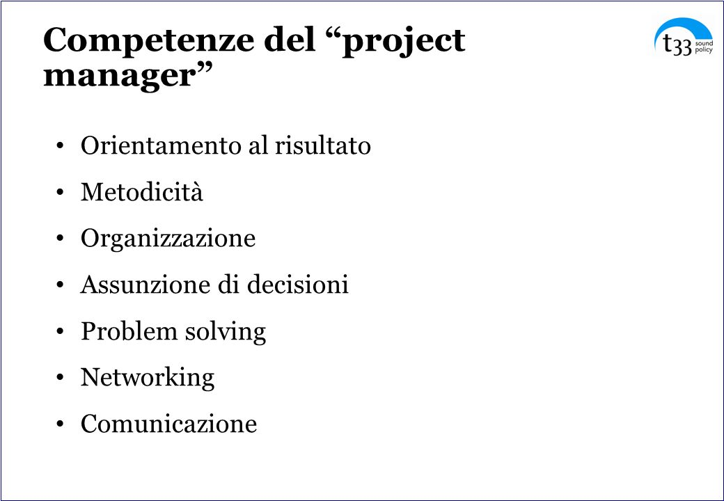 Competenze del project manager
