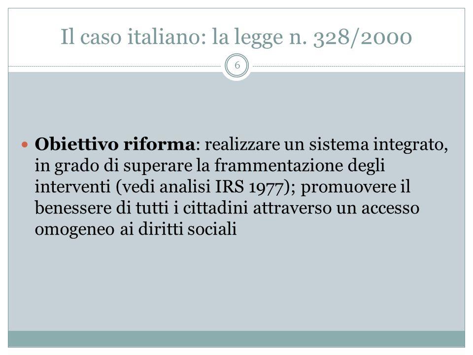 Il caso italiano: la legge n. 328/2000