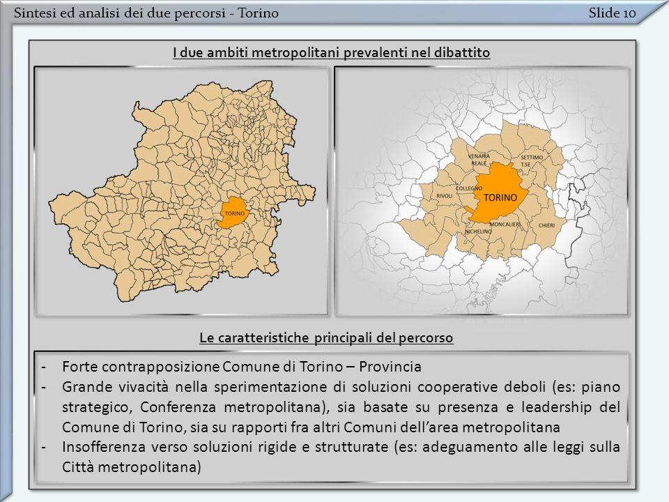 Forte contrapposizione Comune di Torino – Provincia