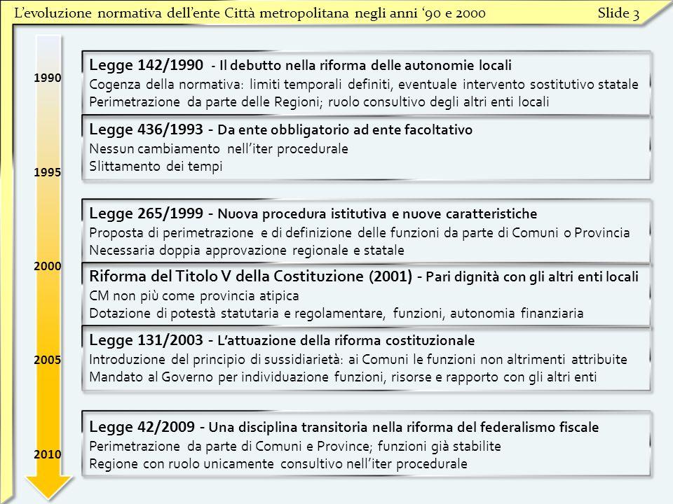 Legge 142/1990 - Il debutto nella riforma delle autonomie locali