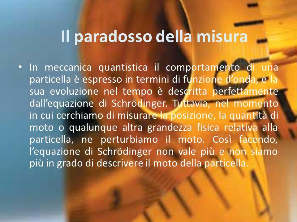 Il paradosso della misura