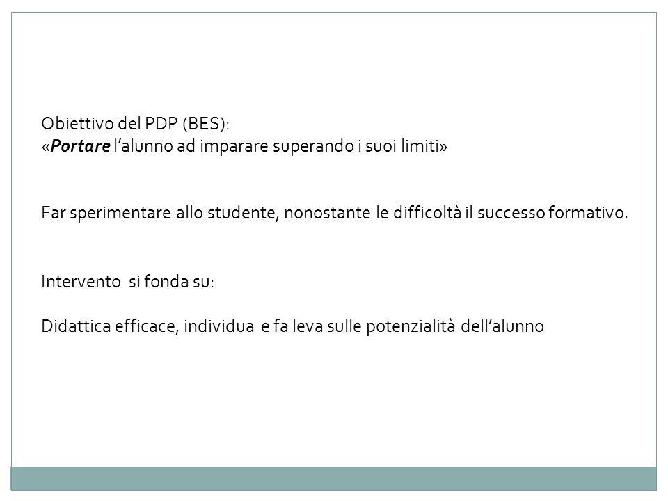 Obiettivo del PDP (BES):