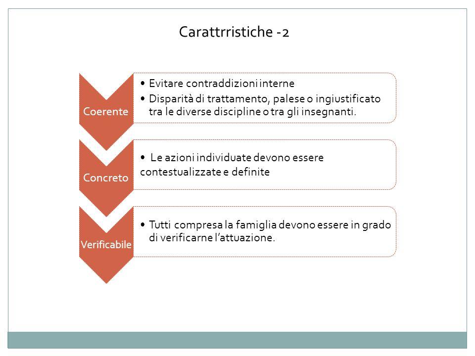 Carattrristiche -2 Coerente Evitare contraddizioni interne