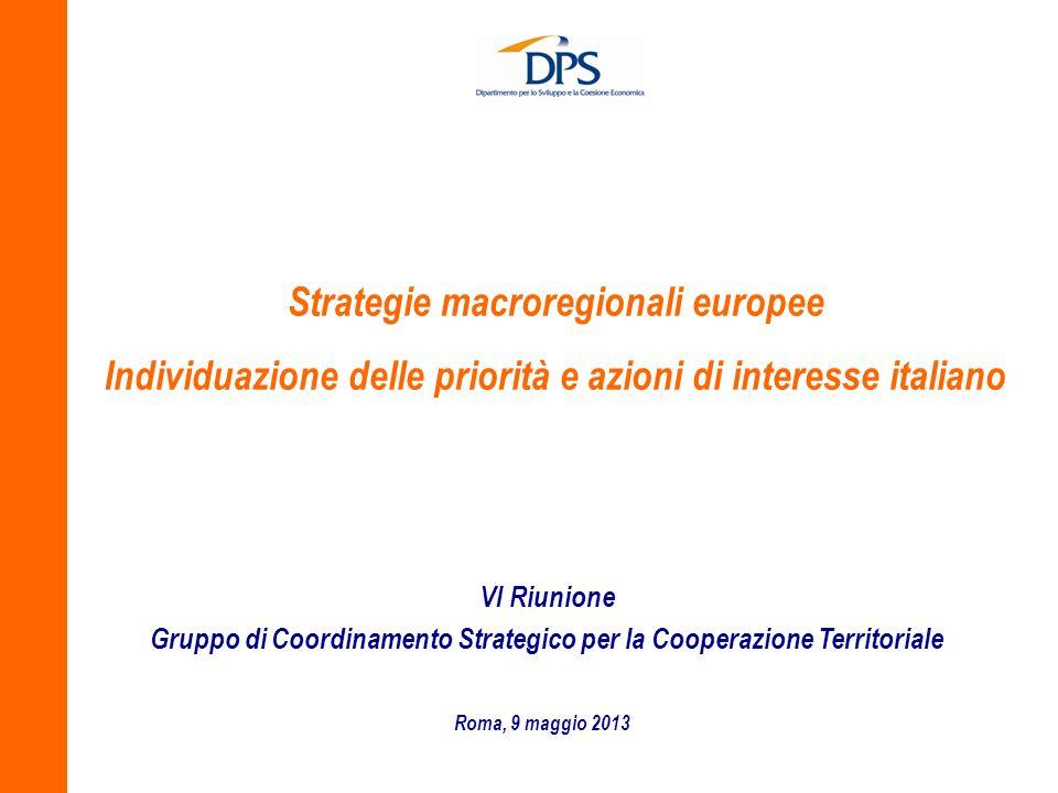 Strategie macroregionali europee