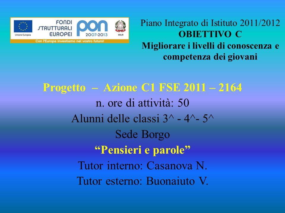 Progetto – Azione C1 FSE 2011 – 2164