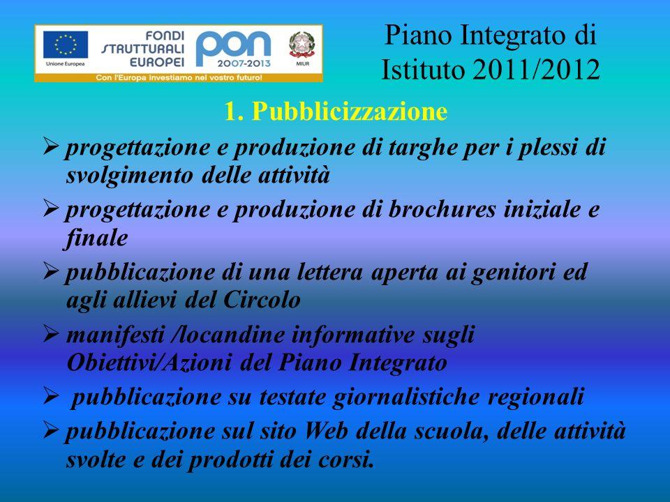 Piano Integrato di Istituto 2011/2012
