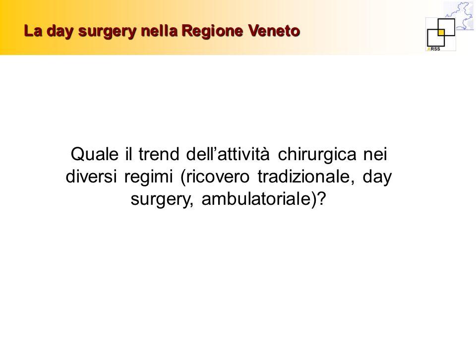 La day surgery nella Regione Veneto