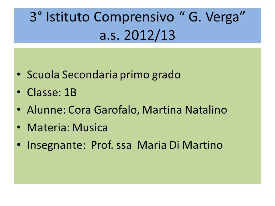 3° Istituto Comprensivo G. Verga a.s. 2012/13