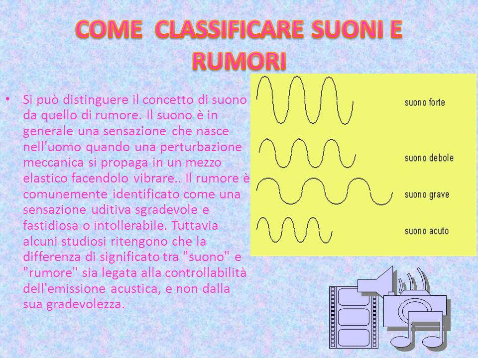 COME CLASSIFICARE SUONI E RUMORI