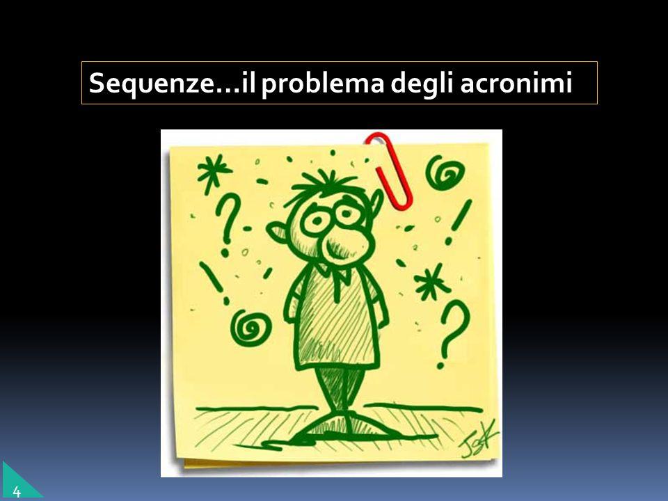 Sequenze…il problema degli acronimi