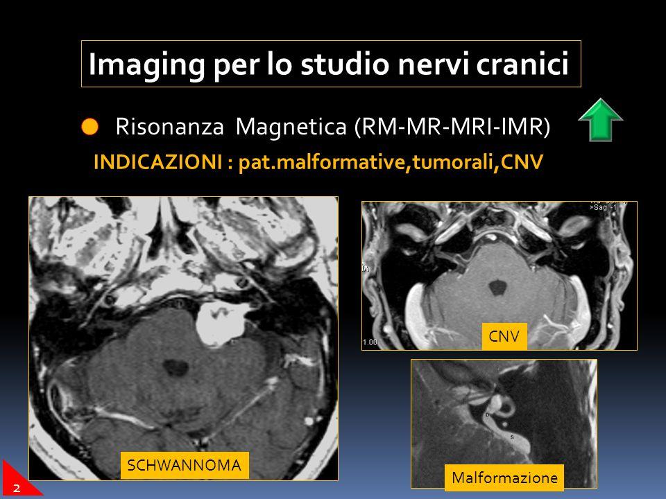 Imaging per lo studio nervi cranici