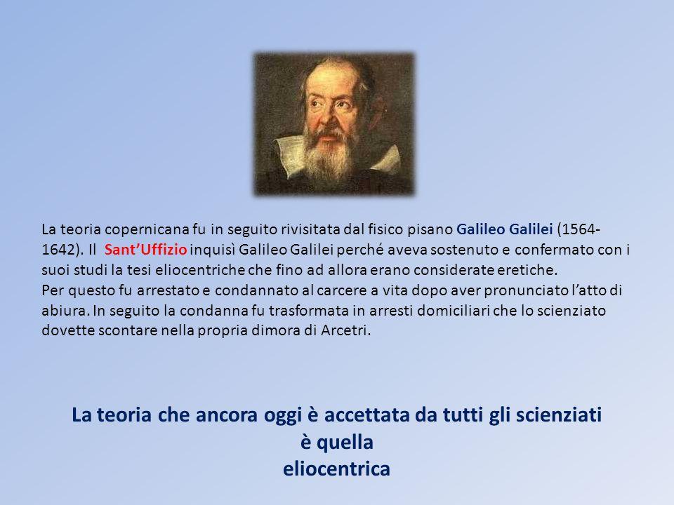La teoria che ancora oggi è accettata da tutti gli scienziati