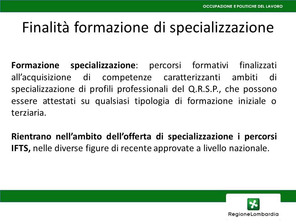 Finalità formazione di specializzazione