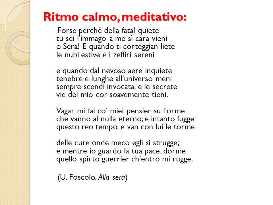 Ritmo calmo, meditativo: