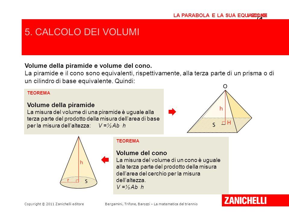 /15 5. CALCOLO DEI VOLUMI Volume della piramide e volume del cono.