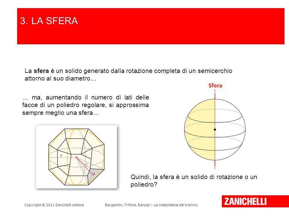 3. LA SFERA LA PARABOLA E LA SUA EQUAZIONE. /15. La sfera è un solido generato dalla rotazione completa di un semicerchio attorno al suo diametro…