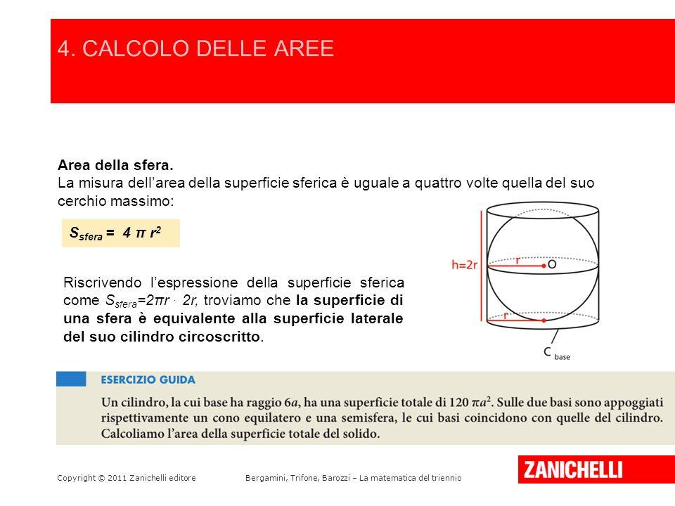 4. CALCOLO DELLE AREE /15 Area della sfera.