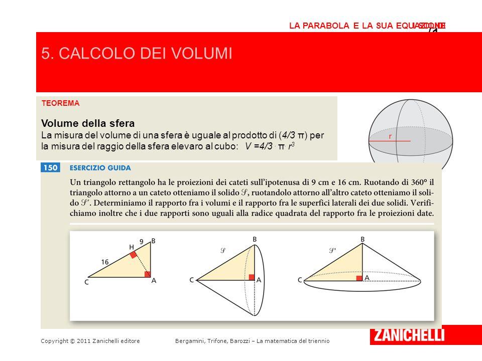 /15 5. CALCOLO DEI VOLUMI Volume della sfera