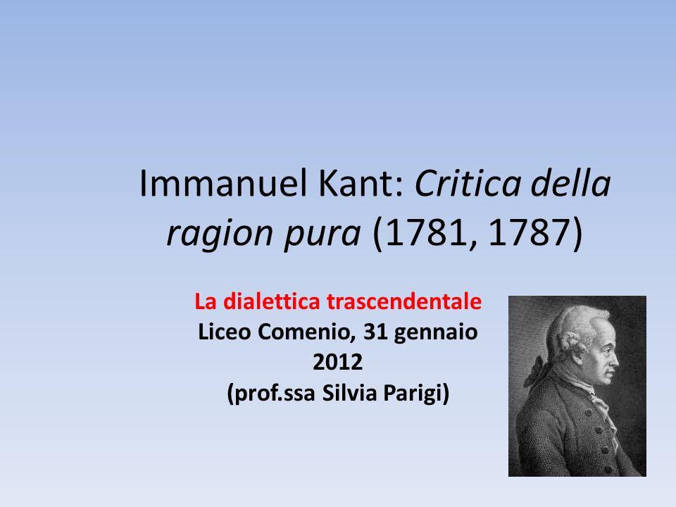 Immanuel Kant: Critica della ragion pura (1781, 1787)