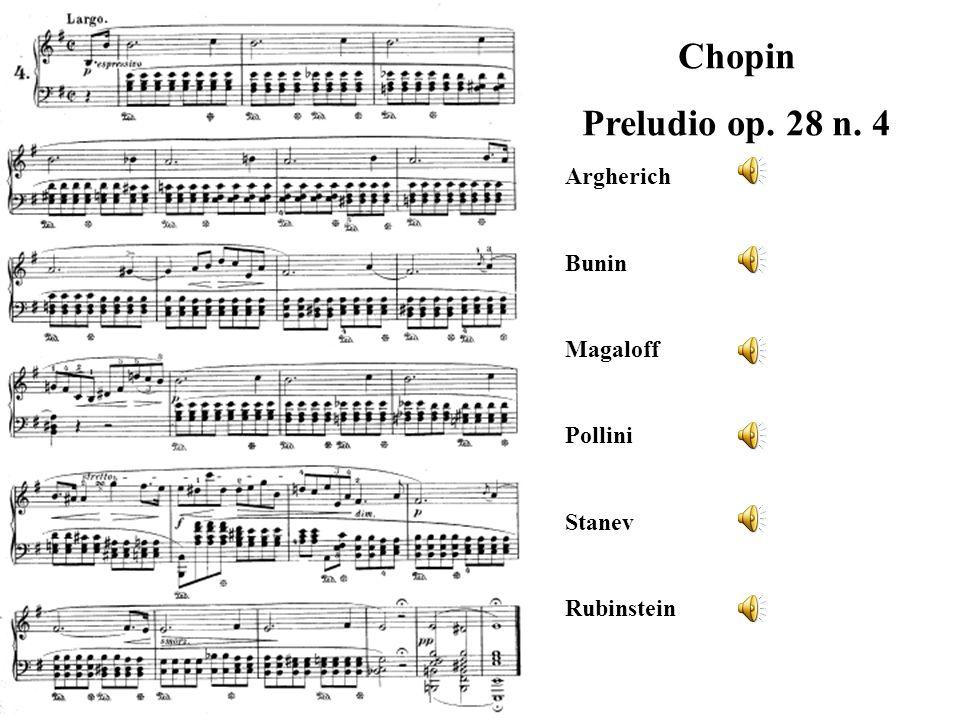 Chopin Preludio op. 28 n. 4 Argherich Bunin Magaloff Pollini Stanev