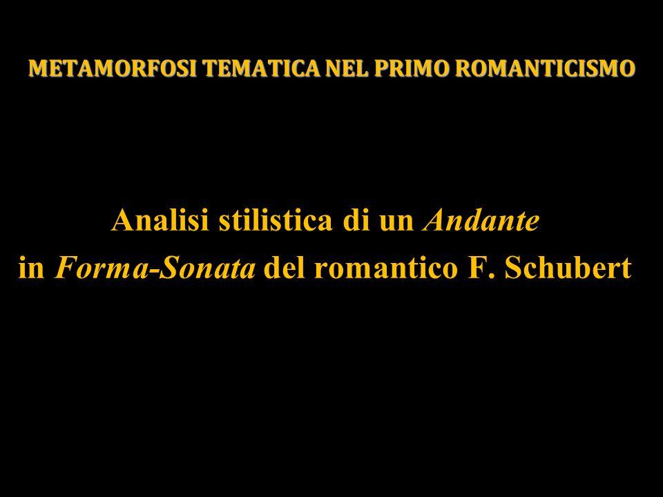 METAMORFOSI TEMATICA NEL PRIMO ROMANTICISMO