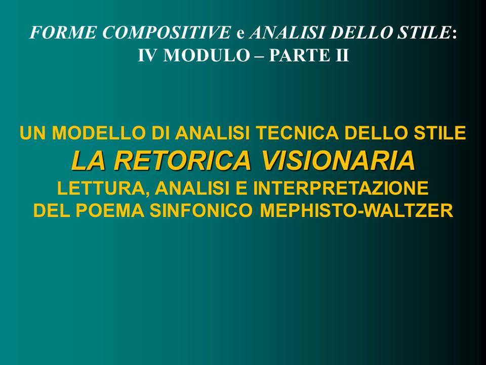 FORME COMPOSITIVE e ANALISI DELLO STILE: