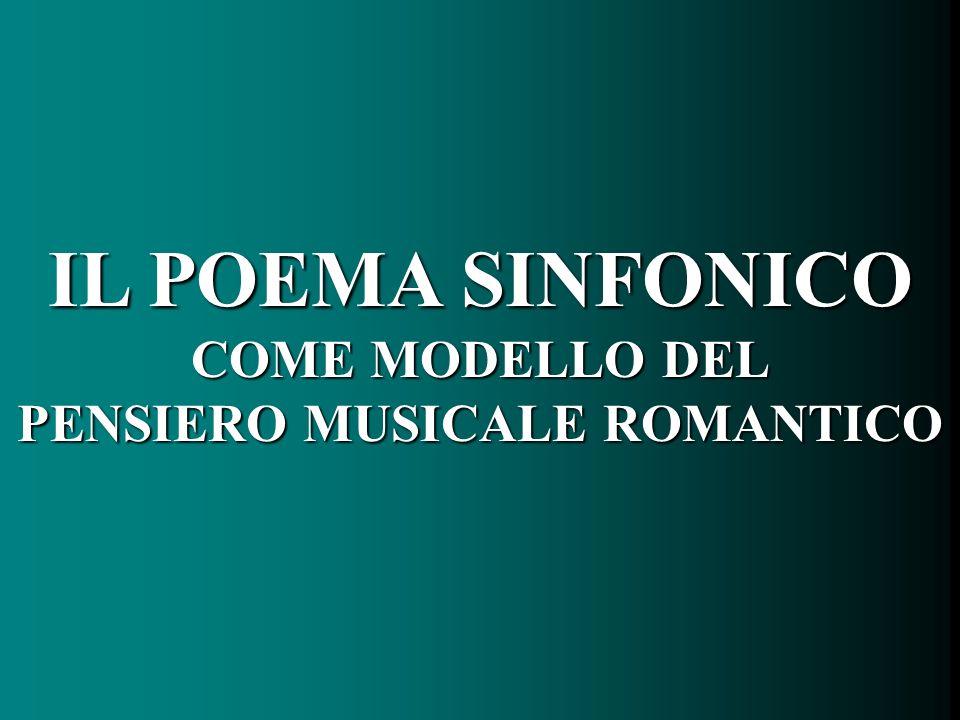 PENSIERO MUSICALE ROMANTICO
