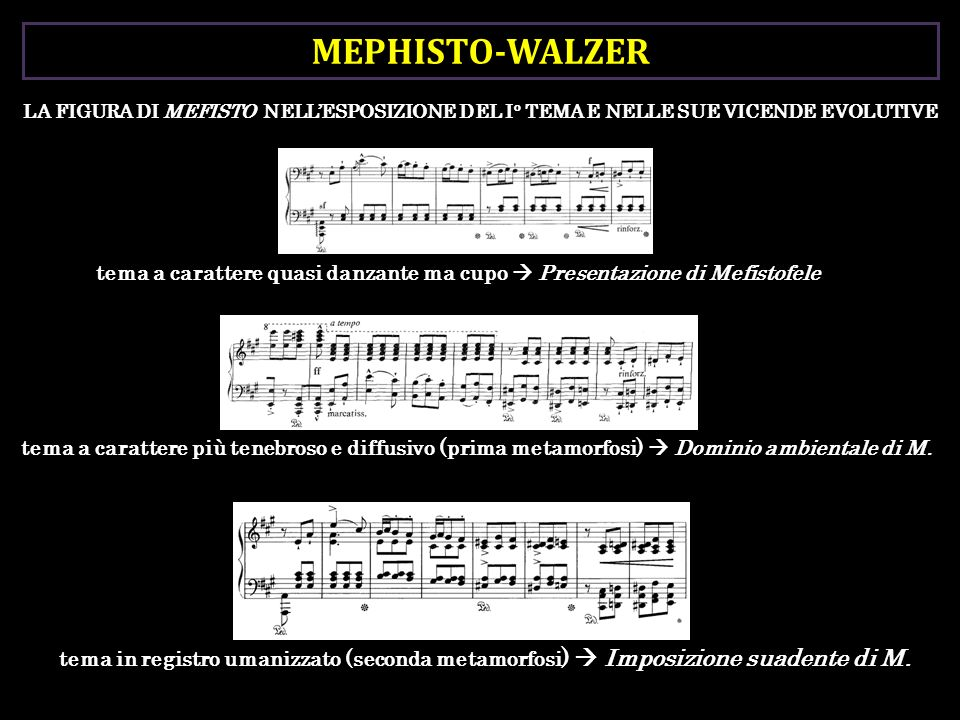 MEPHISTO-WALZER LA FIGURA DI MEFISTO NELL'ESPOSIZIONE DEL I° TEMA E NELLE SUE VICENDE EVOLUTIVE.
