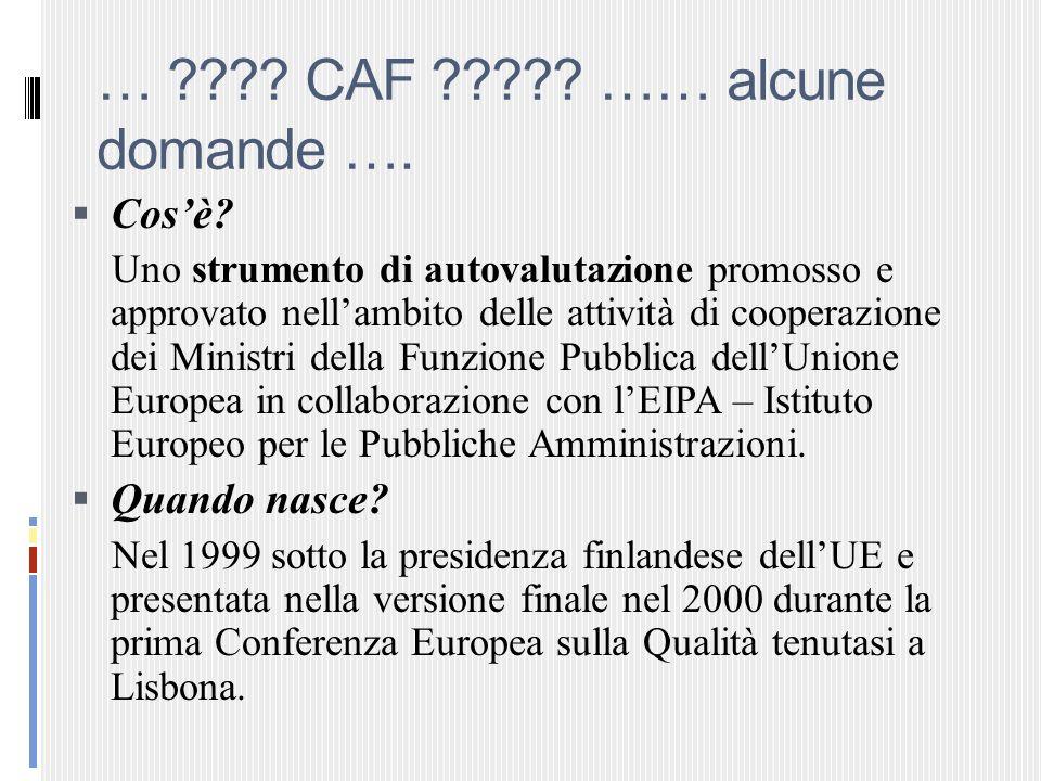 … CAF …… alcune domande ….