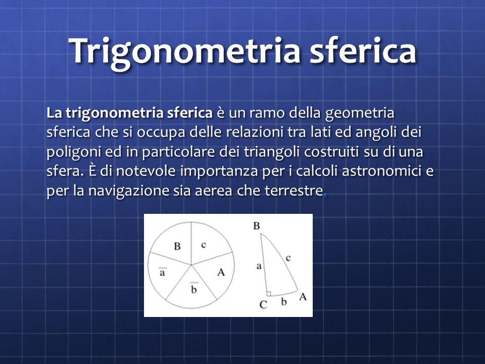 Trigonometria sferica