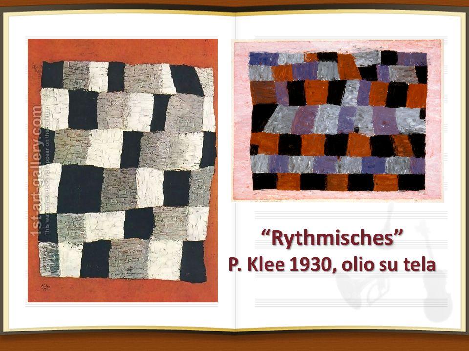 Rythmisches P. Klee 1930, olio su tela