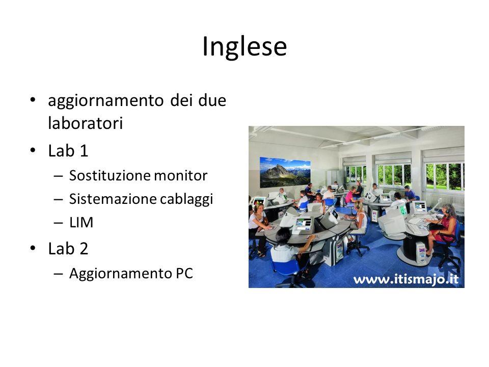 Inglese aggiornamento dei due laboratori Lab 1 Lab 2