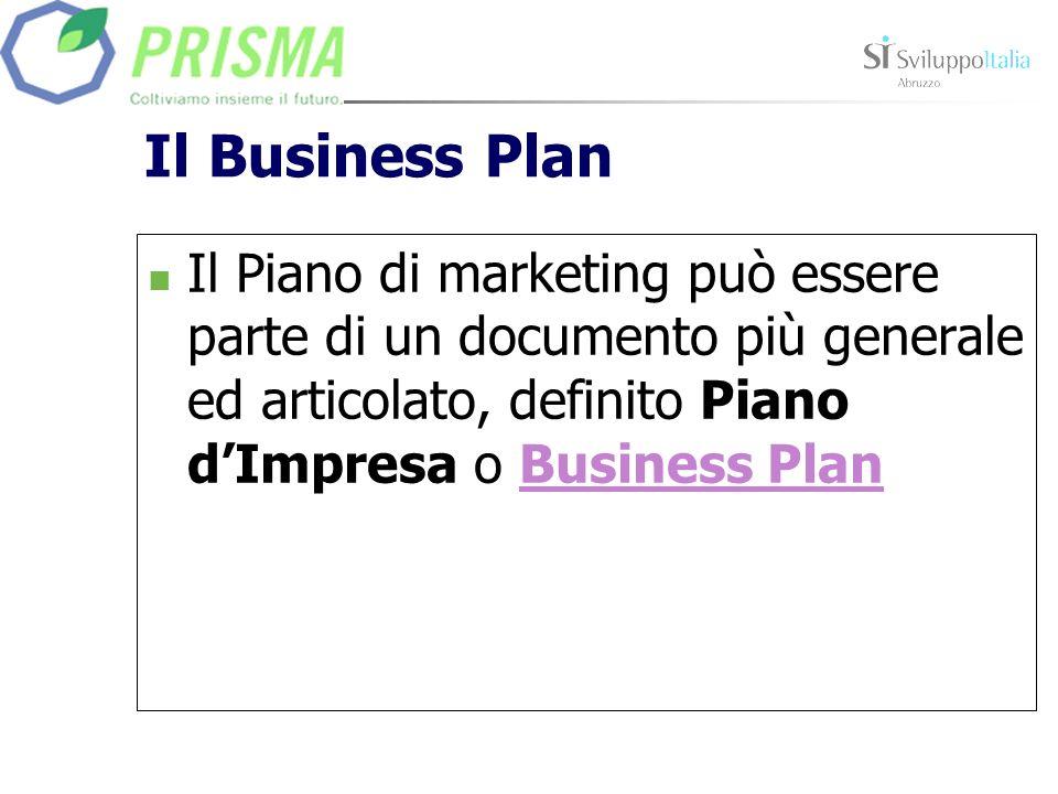Il Business PlanIl Piano di marketing può essere parte di un documento più generale ed articolato, definito Piano d'Impresa o Business Plan.
