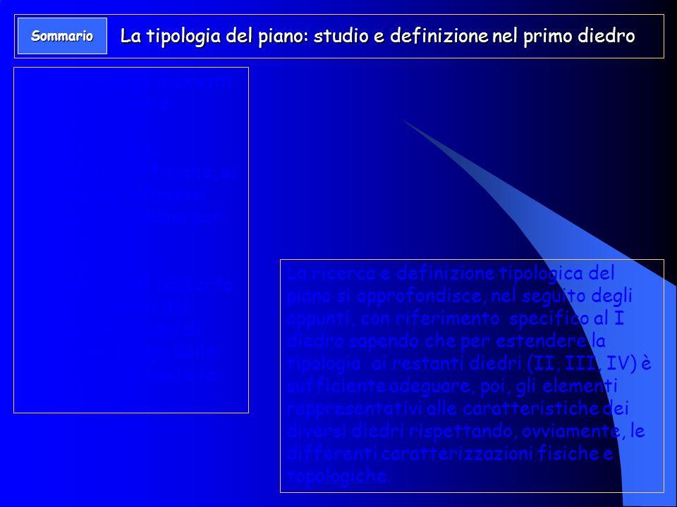 La tipologia del piano: studio e definizione nel primo diedro
