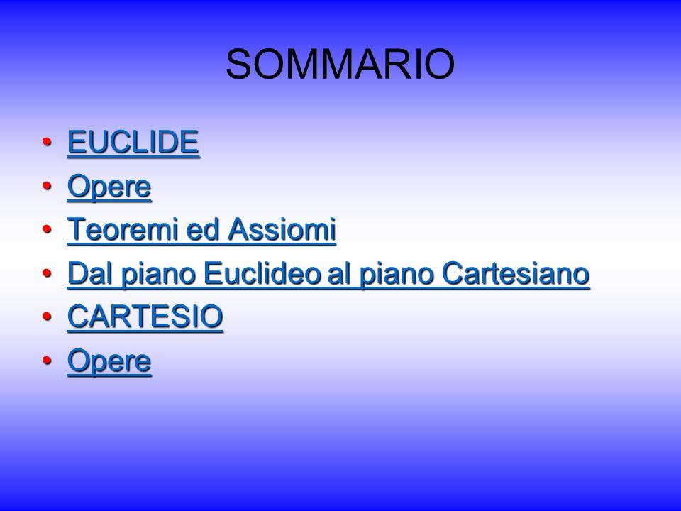 SOMMARIO EUCLIDE Opere Teoremi ed Assiomi