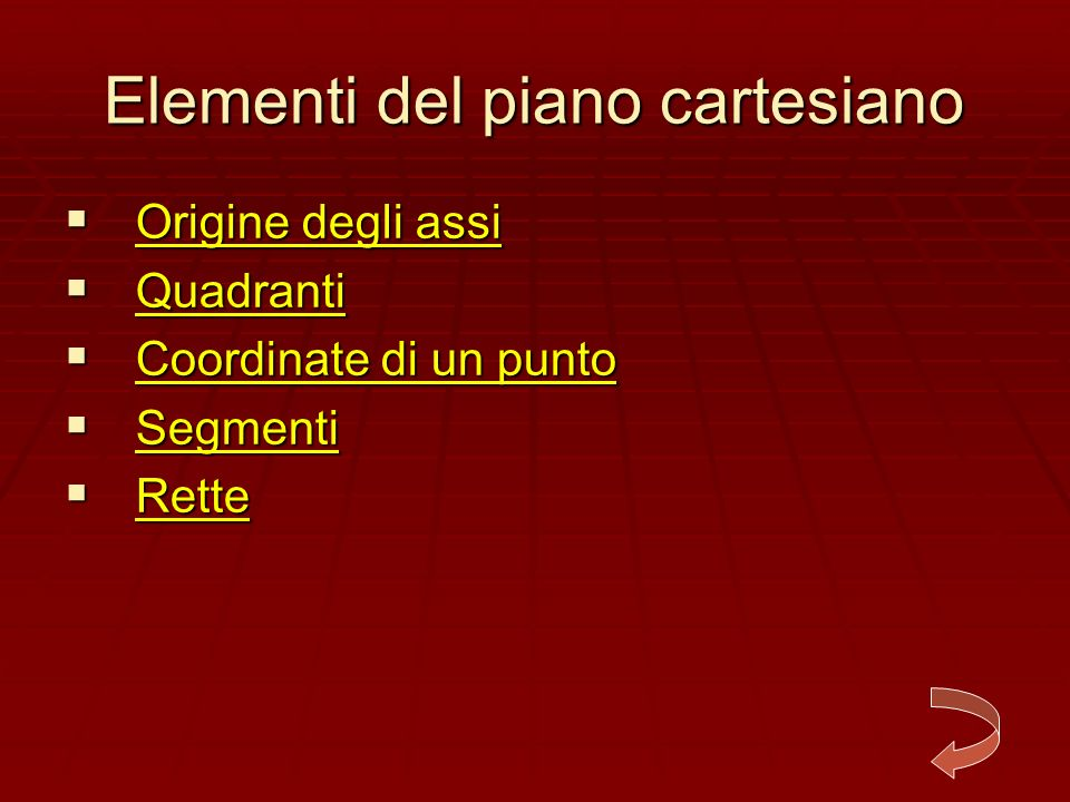 Elementi del piano cartesiano