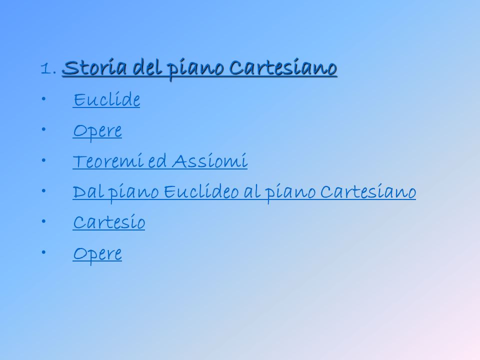 1. Storia del piano Cartesiano