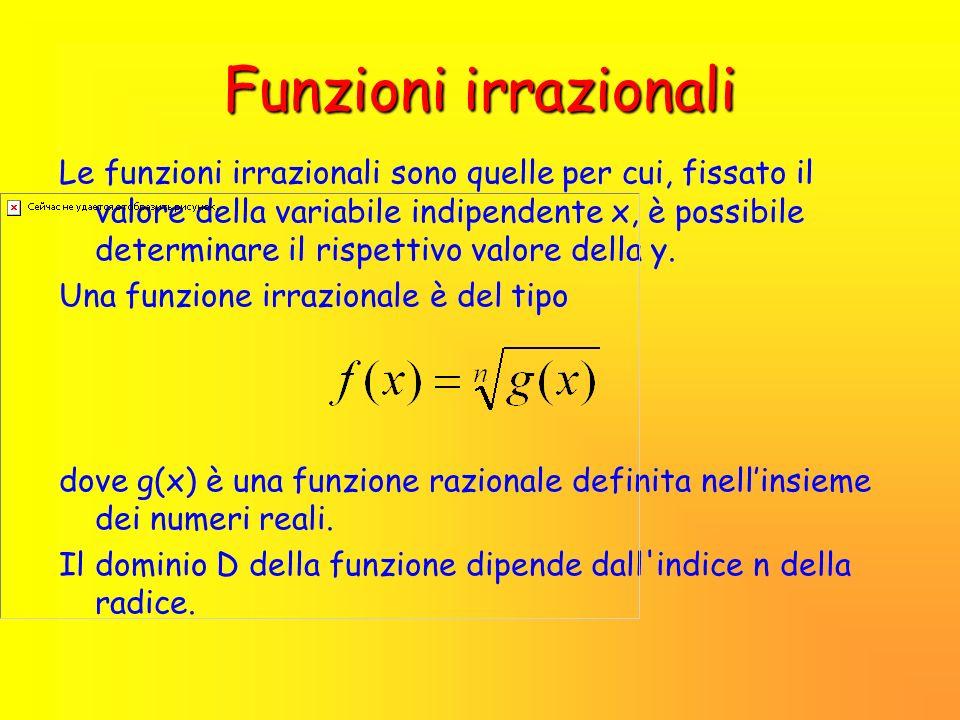 Funzioni irrazionali