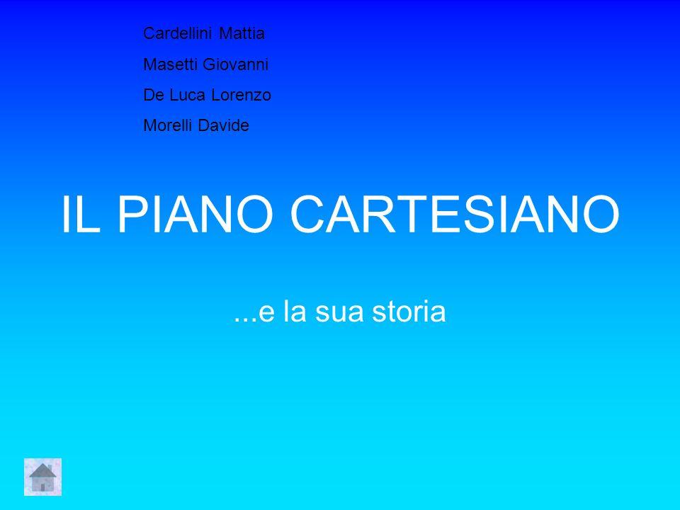 IL PIANO CARTESIANO ...e la sua storia Cardellini Mattia