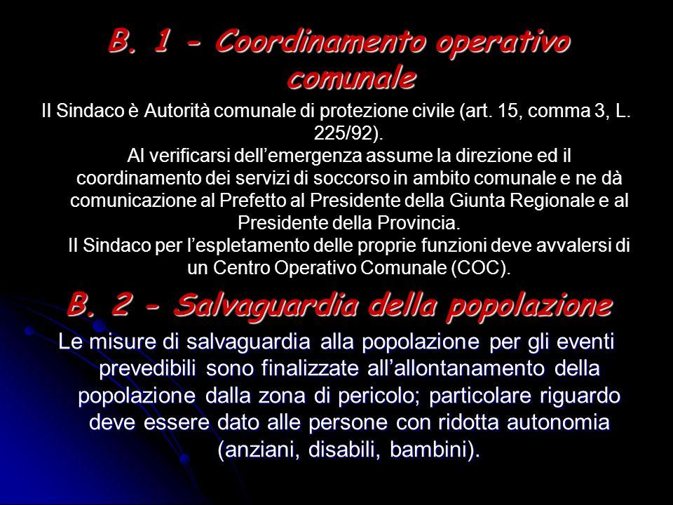 B. 1 - Coordinamento operativo comunale