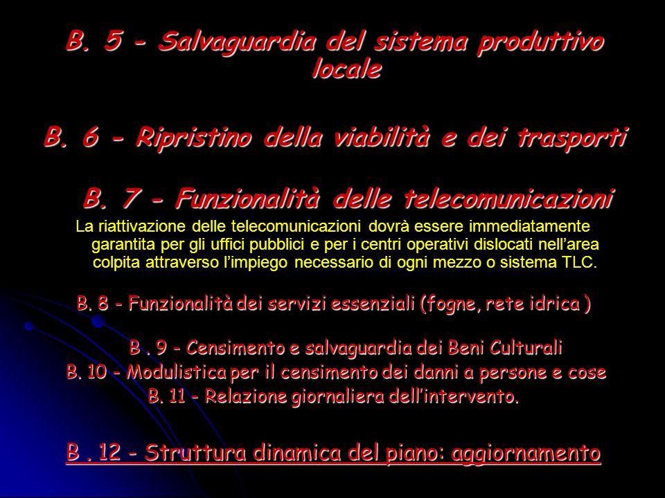 B. 5 - Salvaguardia del sistema produttivo locale